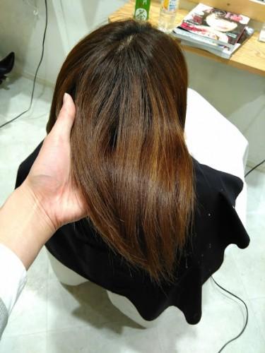 髪質改善トリートメント アフター