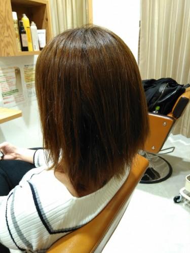 髪質改善トリートメント ビフォー